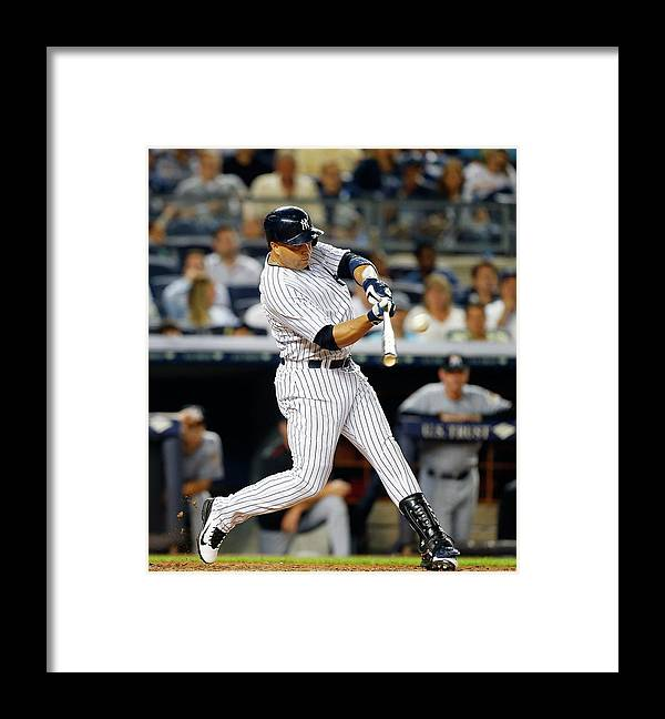 People Framed Print featuring the photograph Carlos Beltran by Jim Mcisaac
