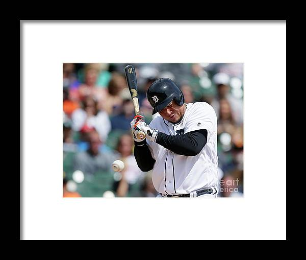People Framed Print featuring the photograph Carlos Carrasco and Miguel Cabrera by Duane Burleson