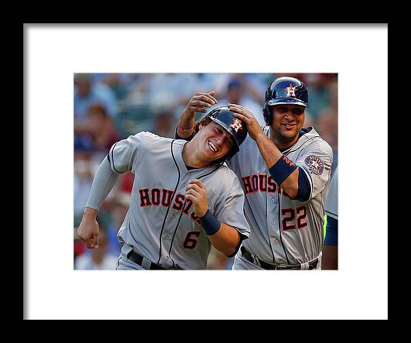 Second Inning Framed Print featuring the photograph Carlos Corporan by Tom Pennington