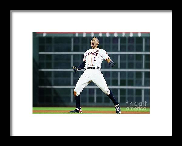 Game Two Framed Print featuring the photograph Carlos Correa by Elsa