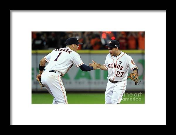 American League Baseball Framed Print featuring the photograph Carlos Correa by Eric Christian Smith
