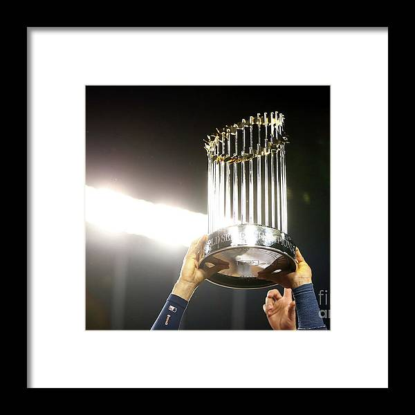 People Framed Print featuring the photograph Carlos Correa by Ezra Shaw