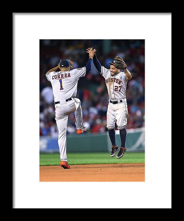 People Framed Print featuring the photograph Carlos Correa by Jim Rogash
