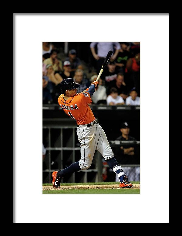 Ninth Inning Framed Print featuring the photograph Carlos Correa by Jon Durr