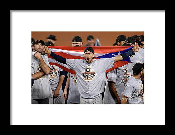 People Framed Print featuring the photograph Carlos Correa by Kevork Djansezian