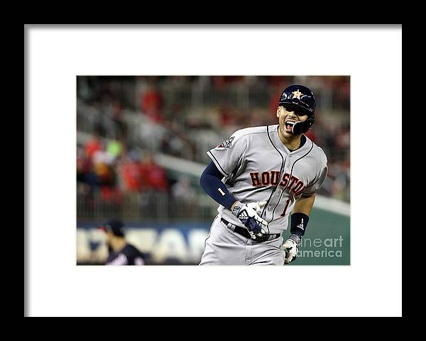 Three Quarter Length Framed Print featuring the photograph Carlos Correa by Patrick Smith