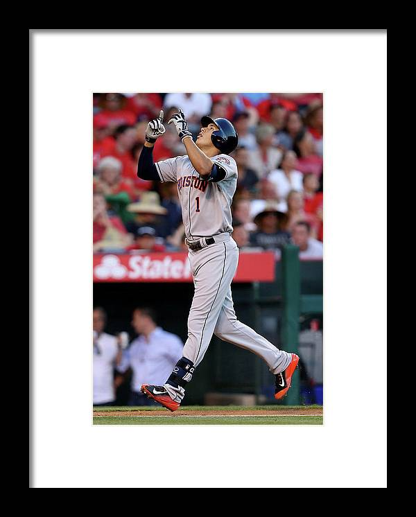 Second Inning Framed Print featuring the photograph Carlos Correa by Stephen Dunn