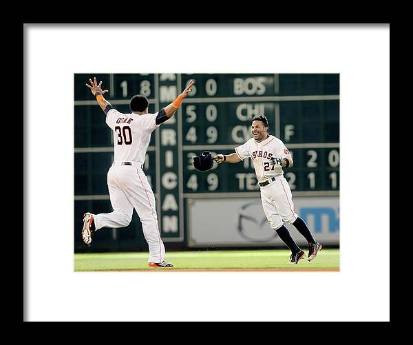 Ninth Inning Framed Print featuring the photograph Carlos Gomez by Bob Levey
