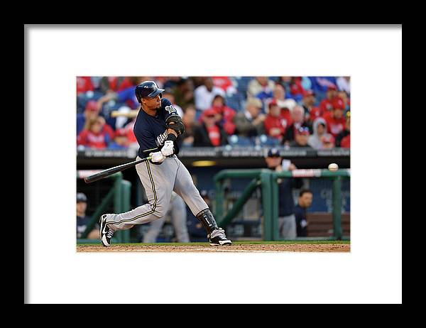 Opening Framed Print featuring the photograph Carlos Gomez by Drew Hallowell
