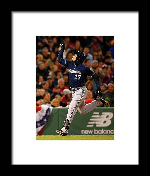 American League Baseball Framed Print featuring the photograph Carlos Gomez by Jared Wickerham