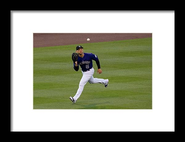 Second Inning Framed Print featuring the photograph Carlos Gonzalez and Conor Gillaspie by Justin Edmonds