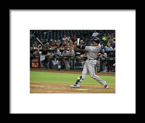 Ninth Inning Framed Print featuring the photograph Carlos Gonzalez by Norm Hall