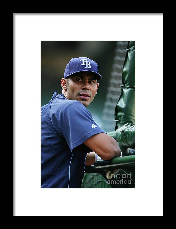People Framed Print featuring the photograph Carlos Pena by Icon Sports Wire