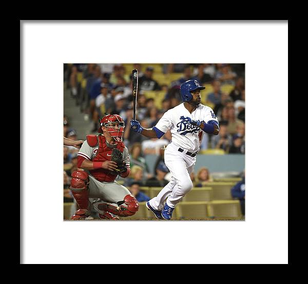 People Framed Print featuring the photograph Carlos Ruiz and Jimmy Rollins by Harry How