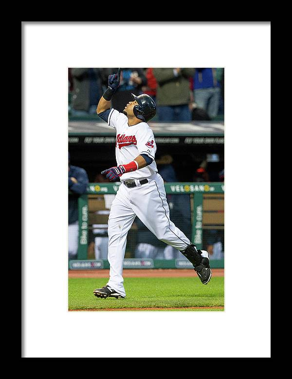 Second Inning Framed Print featuring the photograph Carlos Santana by Jason Miller