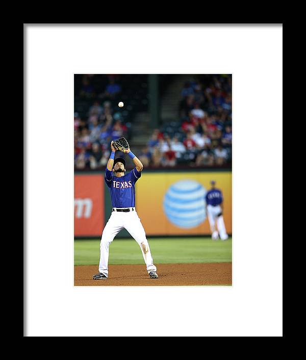 American League Baseball Framed Print featuring the photograph Carlos Santana by Rick Yeatts