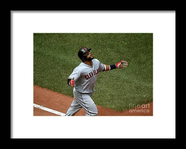 Three Quarter Length Framed Print featuring the photograph Carlos Santana by Tom Szczerbowski
