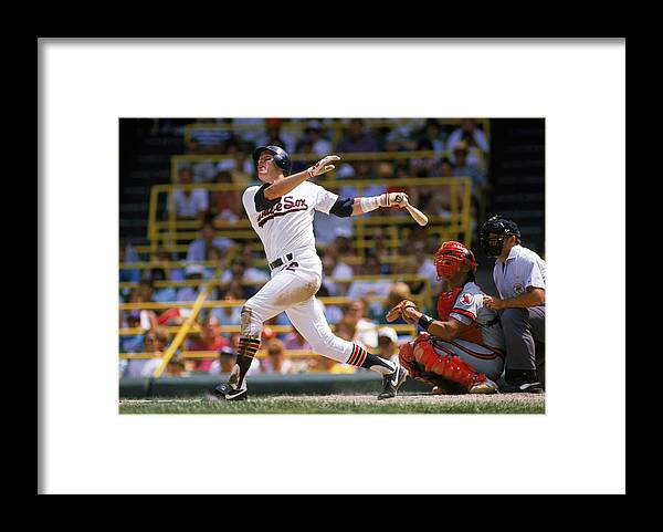 1980-1989 Framed Print featuring the photograph Carlton Fisk by Jonathan Daniel