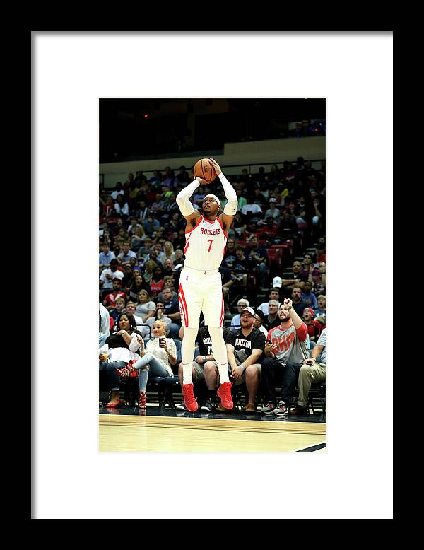 Nba Pro Basketball Framed Print featuring the photograph Carmelo Anthony by Joe Murphy