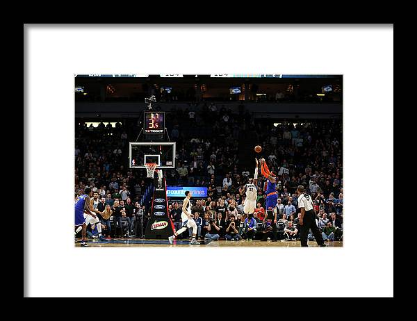 Nba Pro Basketball Framed Print featuring the photograph Carmelo Anthony by Jordan Johnson