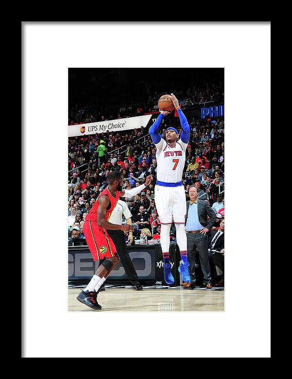Atlanta Framed Print featuring the photograph Carmelo Anthony by Scott Cunningham