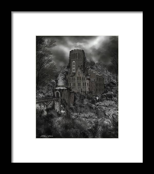 Castle Framed Print featuring the painting Casa Los Diavla by James Christopher Hill