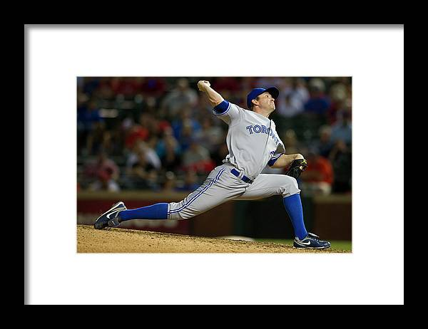 Ninth Inning Framed Print featuring the photograph Casey Janssen by Cooper Neill