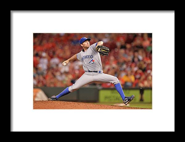 Great American Ball Park Framed Print featuring the photograph Casey Janssen by Jamie Sabau