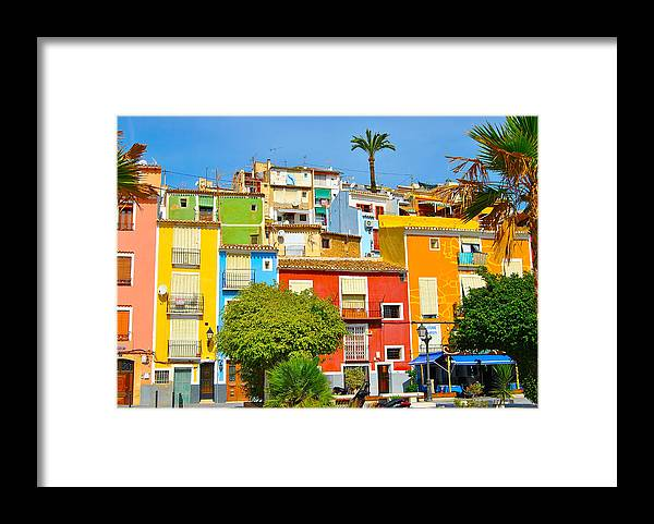 Tranquility Framed Print featuring the photograph Casitas de Muchos Colores by A Richard Poolton Image