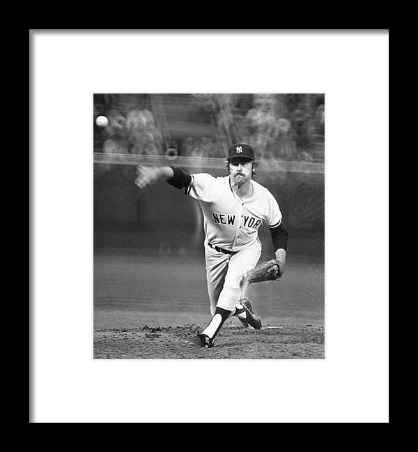 American League Baseball Framed Print featuring the photograph Catfish Hunter by Ronald C. Modra/sports Imagery