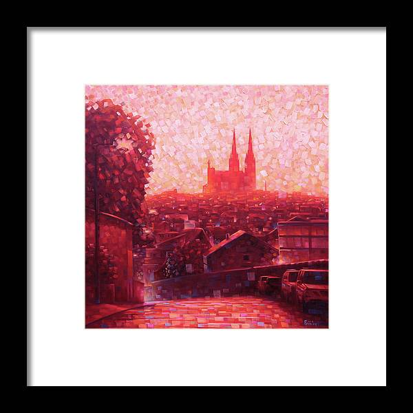 Cathedral Framed Print featuring the painting Cathedral Sunrise by Rob Buntin