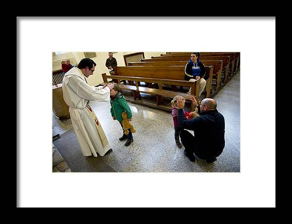 Pets Framed Print featuring the photograph Catholic Church Hosts Mass For House Pets by Target Presse Agentur Gmbh