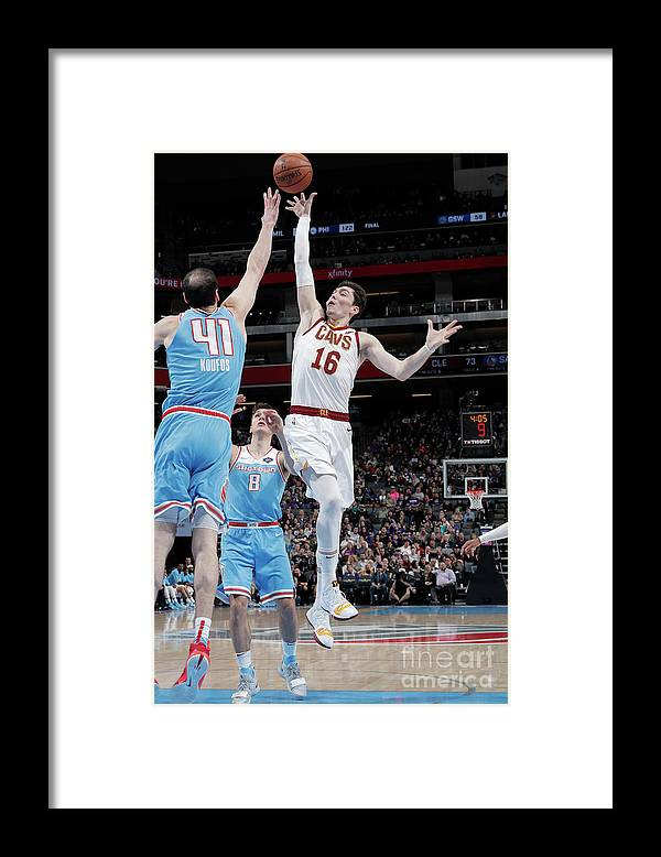 Nba Pro Basketball Framed Print featuring the photograph Cedi Osman by Rocky Widner