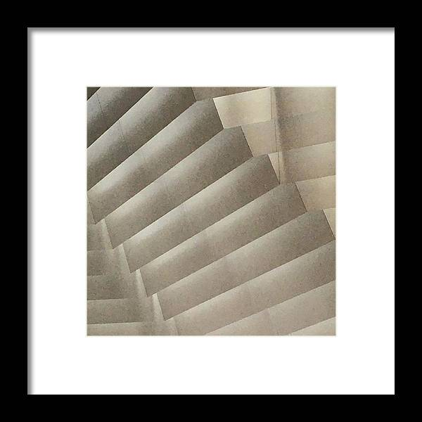 Photograph Framed Print featuring the photograph Ceiling Stairway by Richard Wetterauer