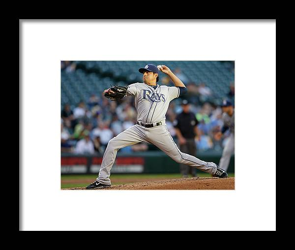 Second Inning Framed Print featuring the photograph Cesar Ramos by Otto Greule Jr
