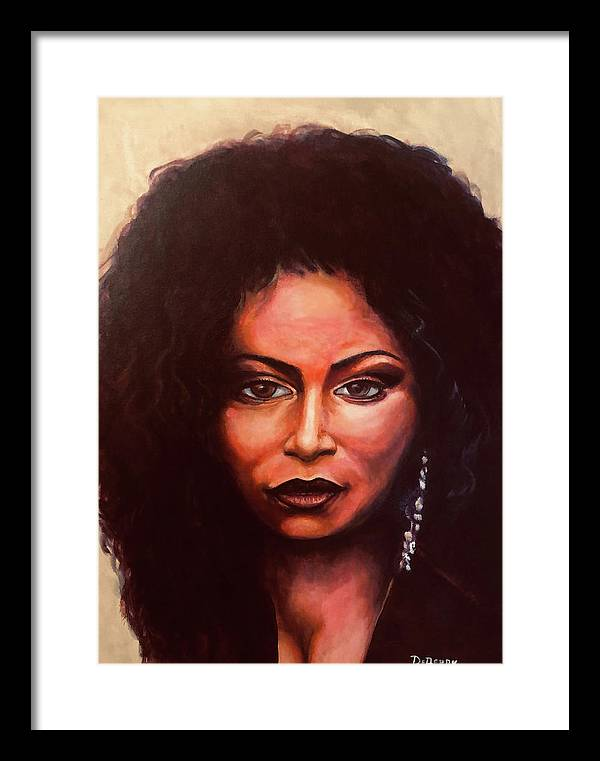 Chaka: Original 24x36in. Oil On Canvas Panel By Lloyd Deberry Framed Print featuring the painting Chaka by Lloyd DeBerry