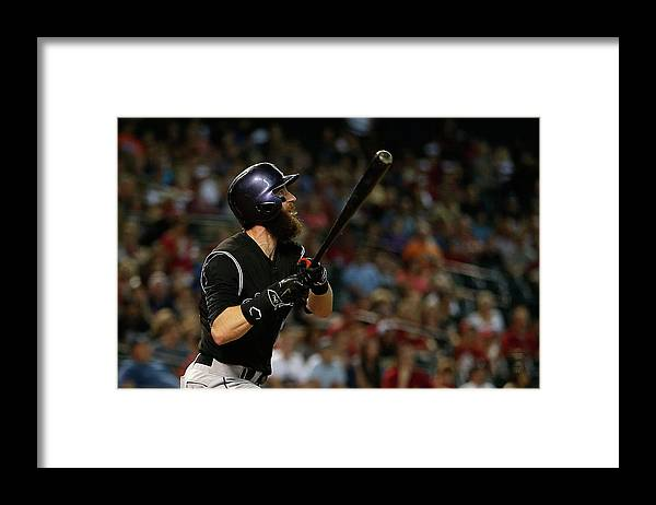 Three Quarter Length Framed Print featuring the photograph Charlie Blackmon by Christian Petersen
