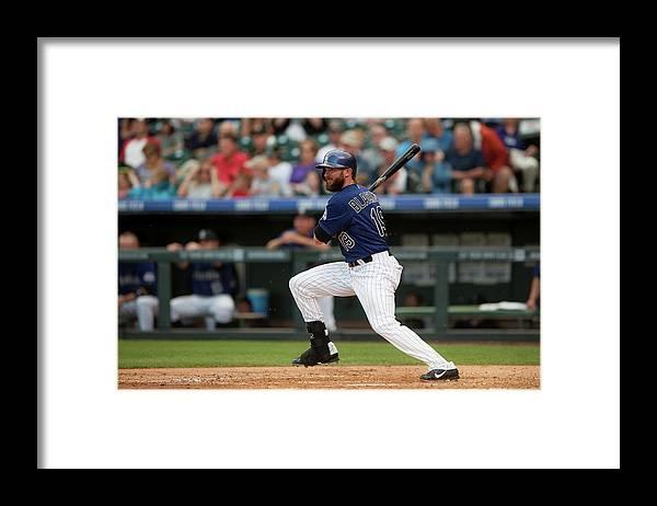 National League Baseball Framed Print featuring the photograph Charlie Blackmon by Dustin Bradford
