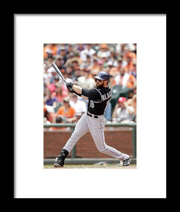 San Francisco Framed Print featuring the photograph Charlie Blackmon by Ezra Shaw