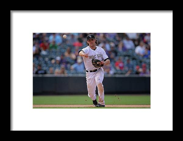 National League Baseball Framed Print featuring the photograph Charlie Culberson by Doug Pensinger