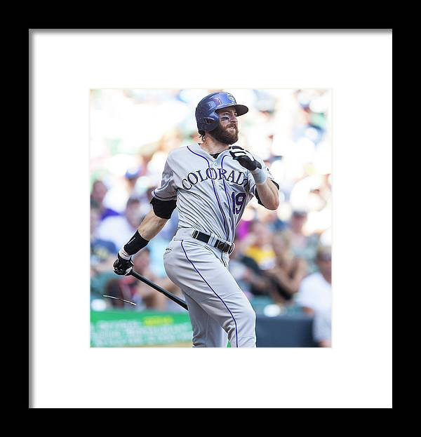 American League Baseball Framed Print featuring the photograph Charlie Miller by Tom Lynn