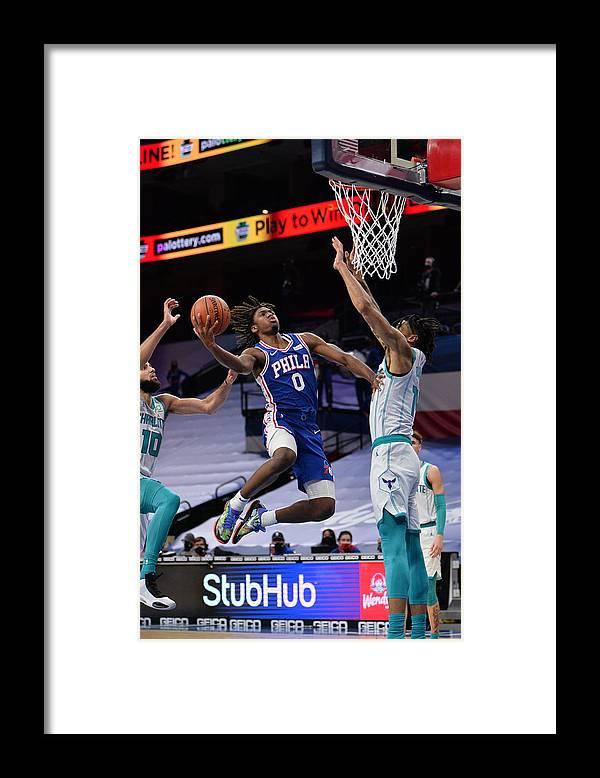 Nba Pro Basketball Framed Print featuring the photograph Charlotte Hornets v Philadelphia 76ers by David Dow