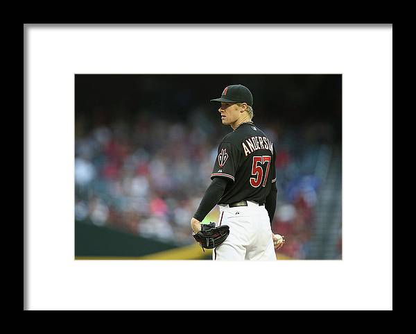 Baseball Pitcher Framed Print featuring the photograph Chase Anderson by Christian Petersen
