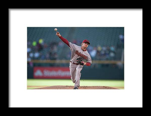 Baseball Pitcher Framed Print featuring the photograph Chase Anderson by Dustin Bradford