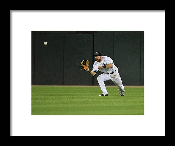 American League Baseball Framed Print featuring the photograph Chase Headley and Adam Eaton by David Banks