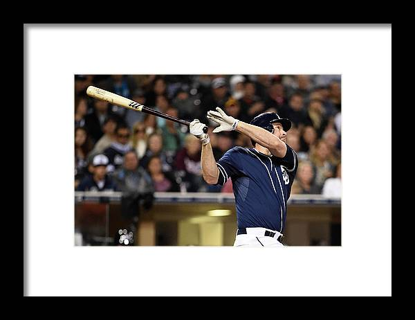 California Framed Print featuring the photograph Chase Headley by Denis Poroy