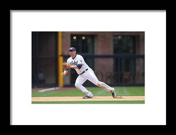 Ball Framed Print featuring the photograph Chase Headley by Rob Leiter