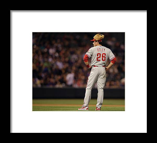 Baseball Pitcher Framed Print featuring the photograph Chase Utley by Doug Pensinger