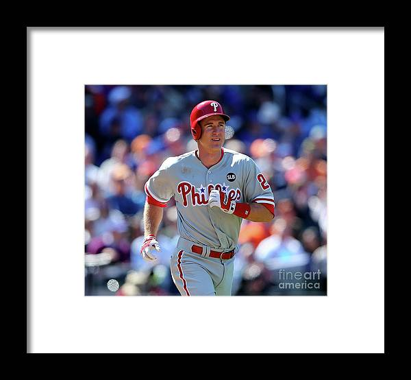 Three Quarter Length Framed Print featuring the photograph Chase Utley by Elsa