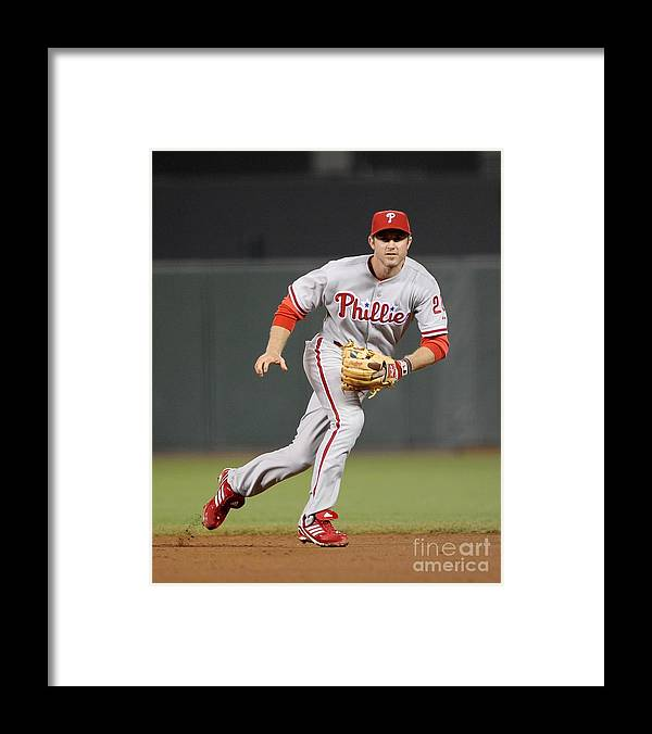 California Framed Print featuring the photograph Chase Utley by Ezra Shaw